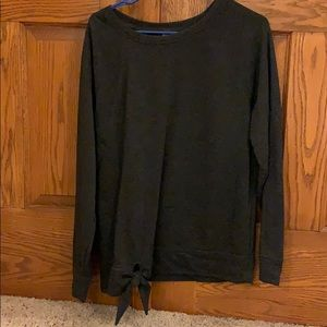 dark gray long sleeved shirt